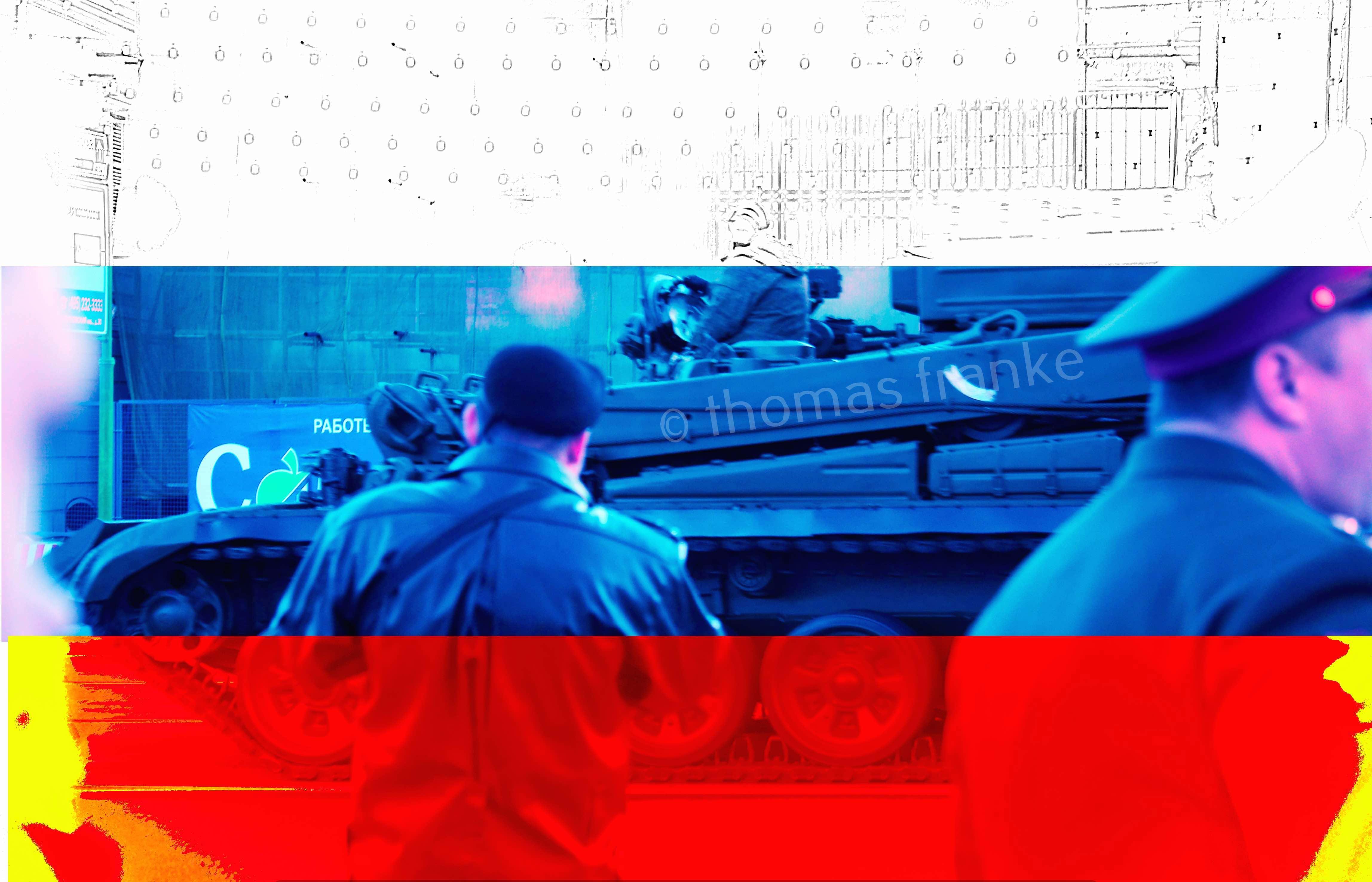 9. mai panzer vor mall flagge