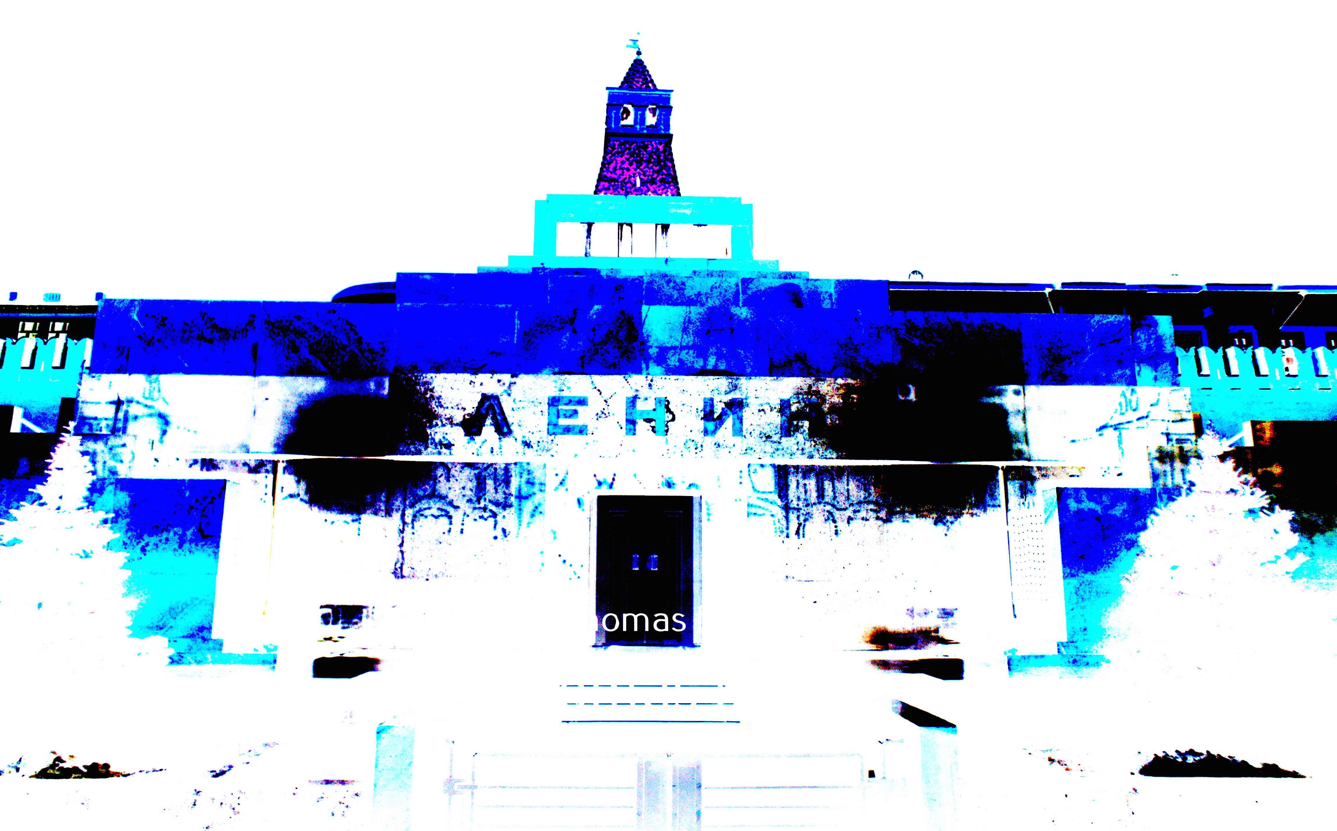 leninmausoleum nachts blauweiß rotarier